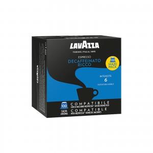 100 Capsule Caffè Lavazza Espresso Dek Decaffeinato Ricco compatibili Nespresso