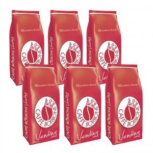 6 Kg Caffè in Grani Borbone Miscela Rossa Vending Linea Bar Chicchi Busta