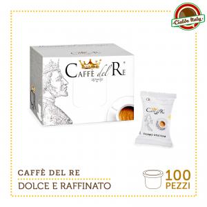 100 CIALDE CAPSULE COMPATIBILI DOMO CAFFE' CAFFE' DEL RE