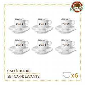 Set 6 Tazze Tazzine Caffe con piattino Levante Caffè Del Re