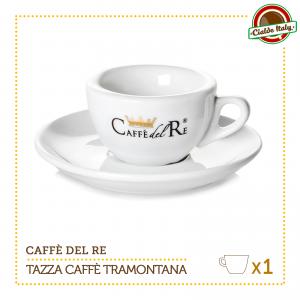 1 Tazza Tazzina Caffe con piattino Tramontana Caffè Del Re