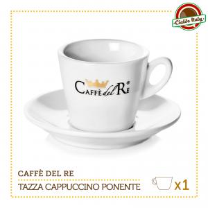 1 Tazza Tazzina Cappuccino Tè con piattino Ponente Caffè Del Re