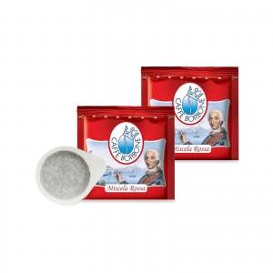 50 Cialde Caffè Borbone miscela Rossa filtro carta ESE 44mm Capsule