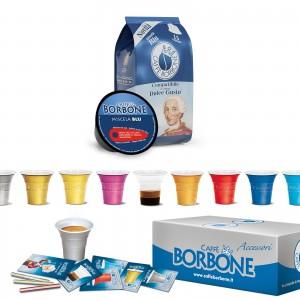 90 Capsule Borbone Miscela Blu Dolce Gusto Nescafè con Accessori