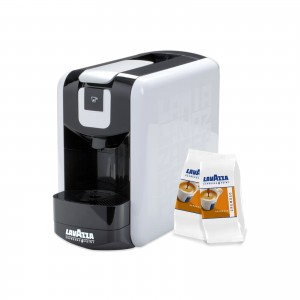 Kit Espresso Point Lavazza EP Mini Macchina da Caffè col. Bianco + 50 Capsule Espresso Cremoso Lavazza