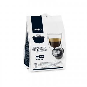 128 Capsule Caffè Gimoka Espresso Vellutato per Dolce Gusto Nescafè
