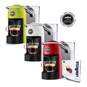 Macchina da Caffè Jolie Lavazza A Modo Mio Rosso / Bianco / Lime con Kit Assaggio 9 Capsule in Omaggio Garanzia 2 Anni