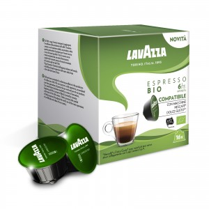 96 Capsule Caffè Lavazza Espresso BIO compatibili Dolce Gusto Nescafè
