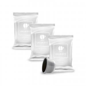 100 Cialde Capsule Caffè Lollo Miscela Argento Compatibile Lavazza Espresso Point