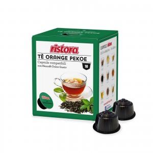 40 Capsule Ristora Tè Nero Orange Pekoe compatibili Dolce Gusto Nescafè The Te