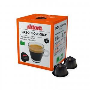 10 Capsule Ristora Orzo Solubile Biologico compatibili Dolce Gusto Nescafè