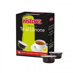 16 Capsule Ristora Tè Limone The Te compatibili A Modo Mio Lavazza