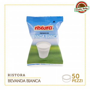 50 Cialde Capsule caffè Ristora bevanda bianca compatibili Lavazza Espresso Point