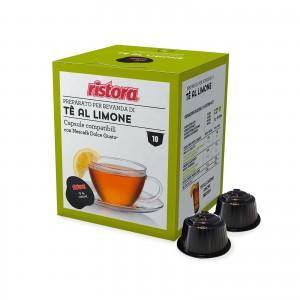 80 Capsule Ristora Tè al Limone compatibili Dolce Gusto Nescafè The Te