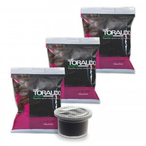 100 Capsule Caffè Toraldo Miscela Classica compatibili Uno System no Cialde