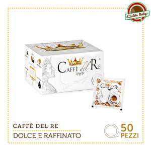 50 Cialde Filtro carta Caffè Del Re ESE 44mm Gusto Dolce E Raffinato