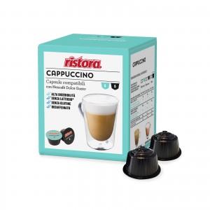 120 (60+60) Capsule Ristora Cappuccino Decaffeinato Senza Lattosio compatibili Dolce Gusto Nescafè Dek