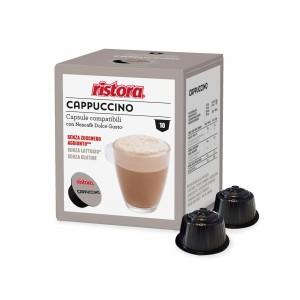 10 Capsule Ristora Cappuccino Senza Lattosio compatibili Dolce Gusto Nescafè