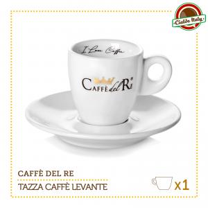 1 Tazza Tazzina Caffe con piattino Levante Caffè Del Re
