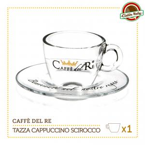 1 Tazza Tazzina Cappuccino Tè con piattino Scirocco Caffè Del Re
