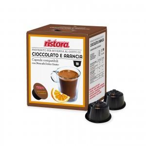 80 Capsule Ristora Cioccolato e Arancia compatibili Dolce Gusto Nescafè