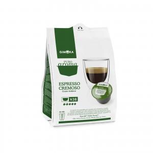 128 Capsule Caffè Gimoka Espresso Cremoso per Dolce Gusto Nescafè