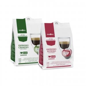 32 Capsule Caffè Gimoka Espresso Intenso + Cremoso per Dolce Gusto Nescafè