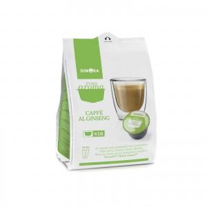 32 Capsule Caffè Gimoka Caffè al Ginseng compatibile Dolce Gusto Nescafè