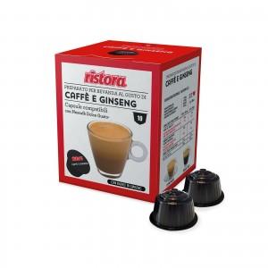 40 Capsule Ristora Caffè e Ginseng compatibili Dolce Gusto Nescafè