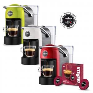 Kit A Modo Mio Lavazza Jolie Rosso / Bianco / Lime + 36 Capsule Espresso Intenso