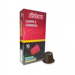 50 Capsule Ristora Caffè e Ginseng compatibili Nespresso