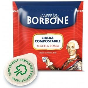 100 Cialde Caffè Borbone miscela Rossa filtro carta ESE 44mm Capsule