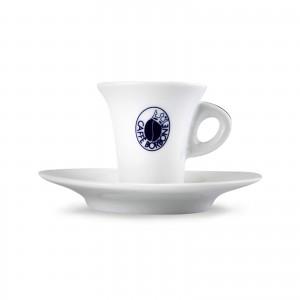 Tazza Tazzina Caffè in Porcellana Caffe' Borbone Rosso Blu Oro Dek Nero Cialde Capsule