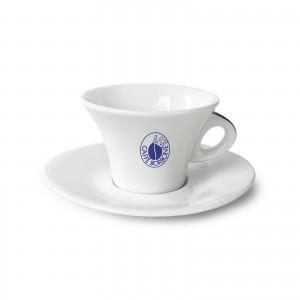 Tazza Tazzina Cappuccino in Porcellana Caffè Borbone Rosso Blu Oro Dek Nero Cialde Capsule