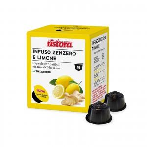 10 Capsule Ristora Infuso Zenzero e Limone compatibili Dolce Gusto Nescafè